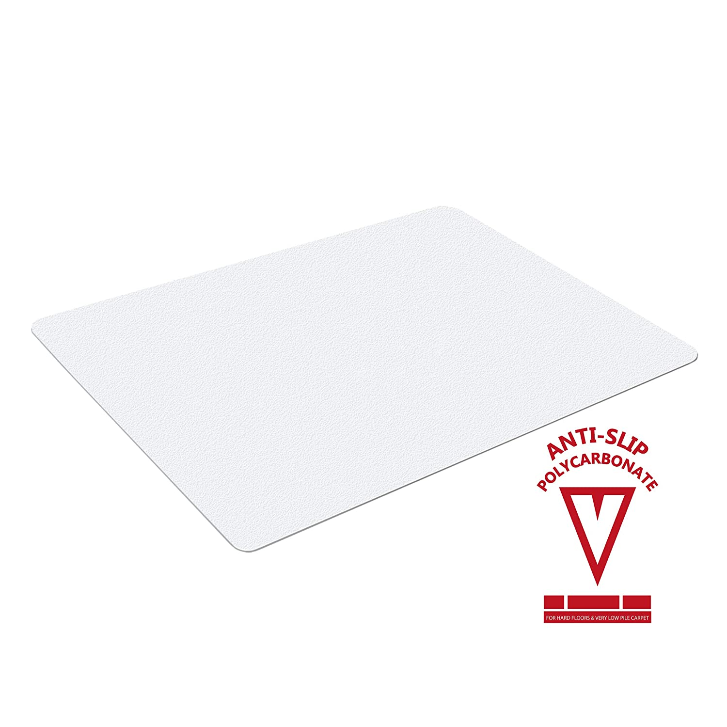 Marvelux 35 x 47 Polycarbonate Chair Mat for Hard Floors and Very Low Pile Carpets with Anti Slip Backing for High Adherence Rectangular Hardwood Floor Protector Shipped Flat