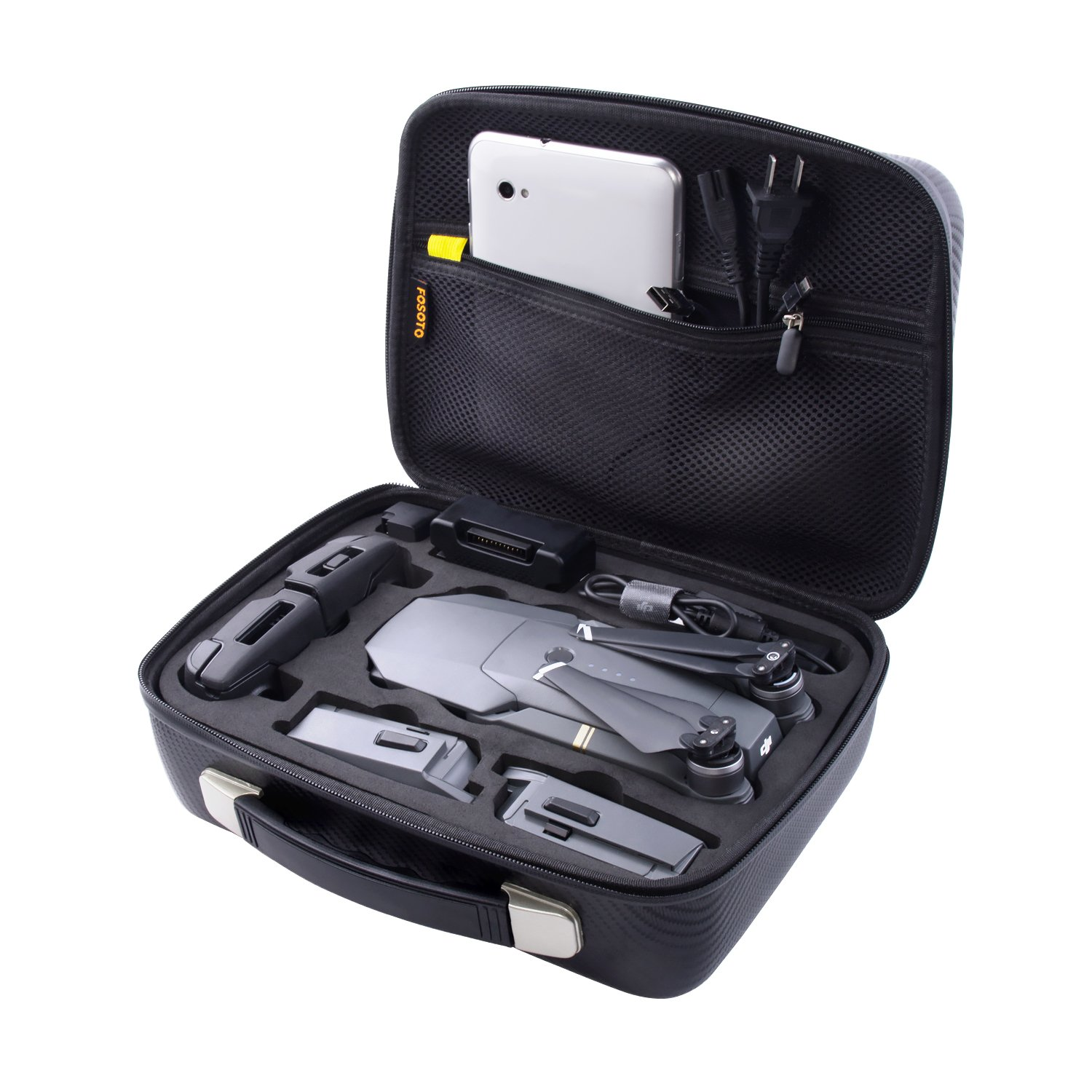 Waterproof Carrying Case Compatible DJI Mavic Pro - Protect DJI Mavic Pro Foldable Drone Combo Accessories Such as Remote Control, Extra Batteries More FOSOTO MP-01