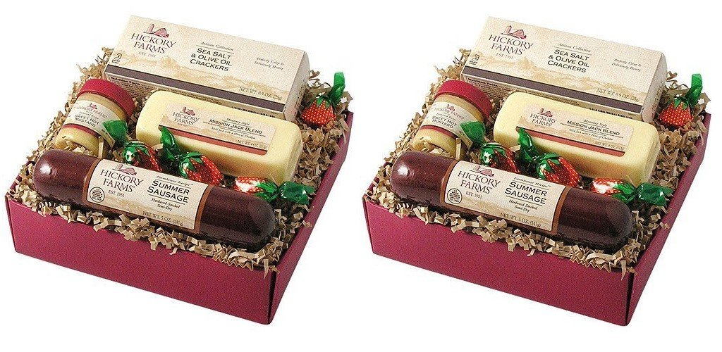 Amazon.com : Hickory Farms 4-Piece Farmhouse Sampler Gift Pack 12.1 oz : Gourmet Snacks And Hors Doeuvres Gifts : Grocery & Gourmet Food
