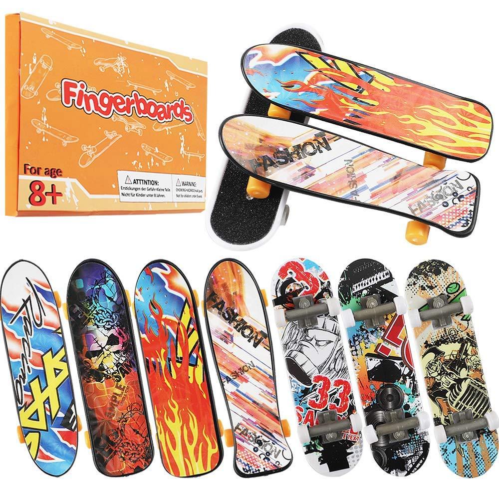 HEHALI 24pcs Mini Finger Skateboards Fingerboards in 4 Styles with Random Pattern by HEHALI