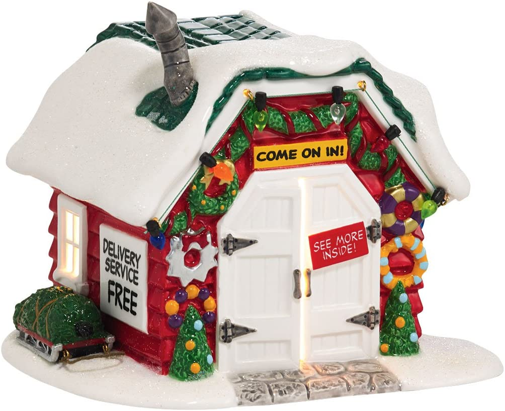 Department 56 Peanuts Village Holiday Tree Lot Lit House, 5.51 inch