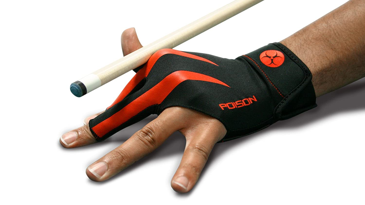 Poison Logo Pool Glove - Large - Left Hand Fit - For Right Handed Players