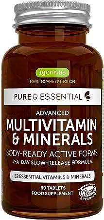 6 x Complejo Multivitamínico Pure & Essential, 22 vitaminas y ...