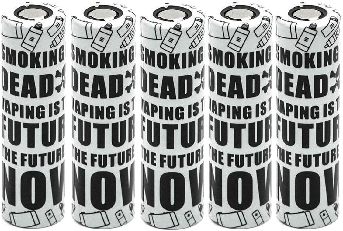 15pcs Skull Wraps Heat Shrink Tubes Sleeves for 18650 Batteries Set of PVC Wraps + PET Top Insulators VampCase Rewrap Kit