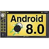 PUMPKIN Android 8.0 カーナビ 2din dvdプレーヤー 4G Wifi 6.2インチ 1秒起動 GPS Bluetooth 1080p HD ミラーリング AUX出力 OBD2 USB SD 18ヶ月保障