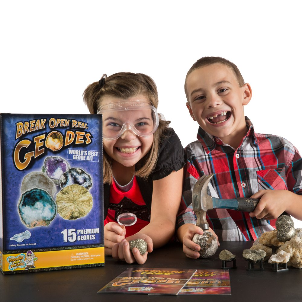 Worlds Best Geode Kit  Crack Open 15 Rocks and Find Crystals! by Discover with Dr. Cool (Image #8)