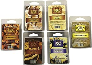 6 Pack Soy Blend Wickless Candle Wax Bar Melts - Bakery Pack. Hot Apple Pie, Buttered Gingerbread, Pumpkin Spice, Vanilla Velvet, Blueberry Muffin and Lemon Ice Box Cake