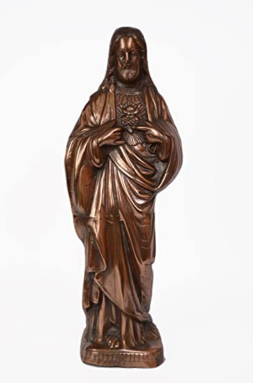 Buy 20 Standing Jesus Statue Handmade Metal Copper Plated Art Home Decor Special Gift Online At Low Prices In India Amazon In
