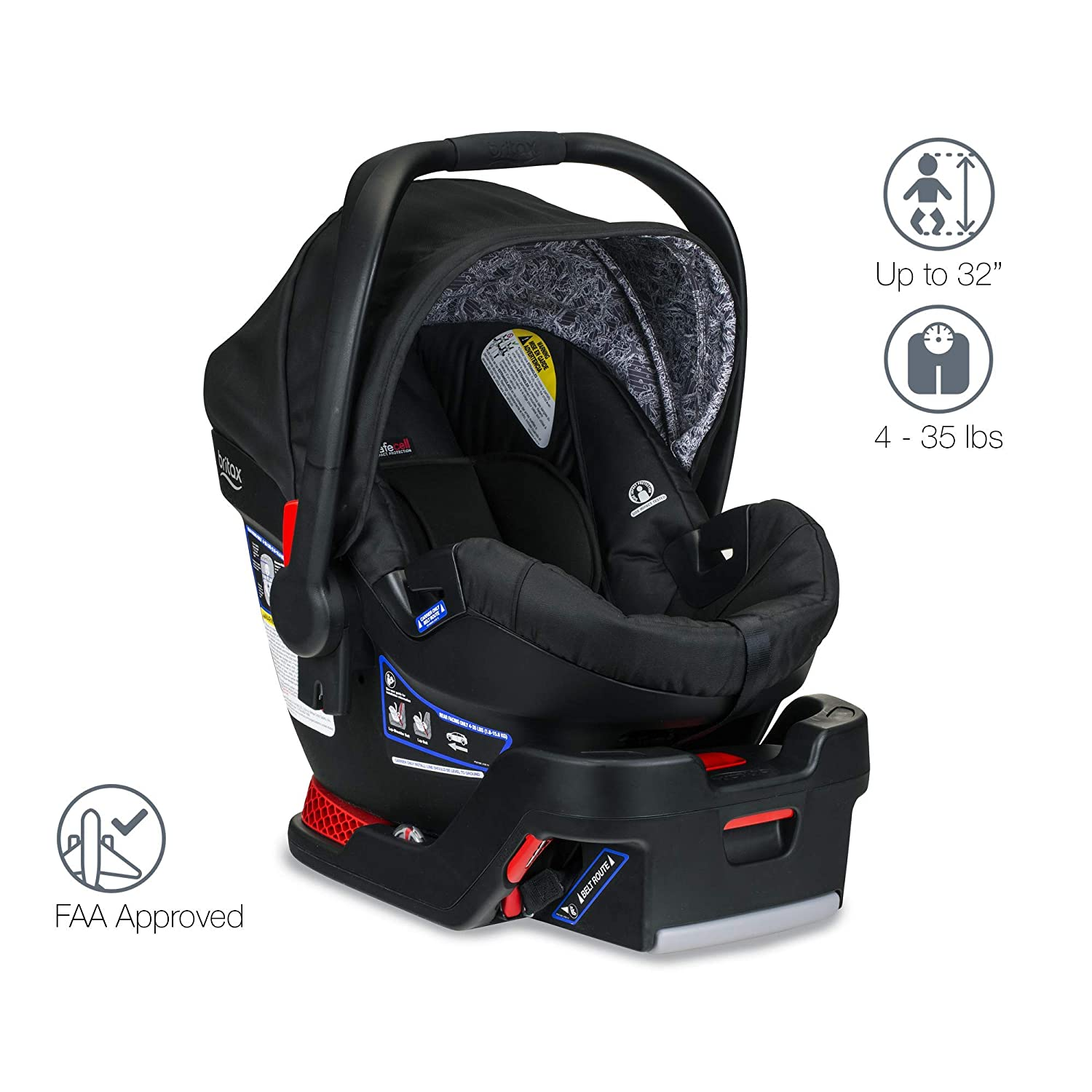 Britax Pathway B-Safe Ultra Travel System, Sketch