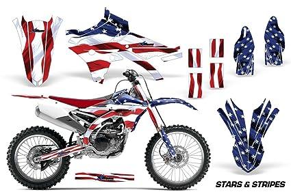 Yamaha YZ250F YZ450F 2014-2017 MX Dirt Bike Graphic Kit Sticker Decals  YZ250F YZ450F STARS & STRIPES