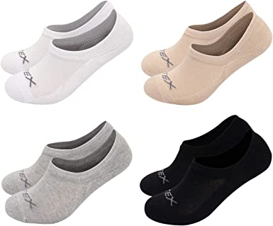 Fitextreme 4 Pack Womens Drycool Cushioned Thick No Show Flat Socks Non Slip S At Amazon Women S Clothing Store