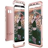 CE-Link Cover Samsung Galaxy S8 SM-G950 360 Gradi Full Body Protezione, Custodia Galaxy S8 Silicone Rigida 3 in 1 Samsung S8 - Oro Rosa