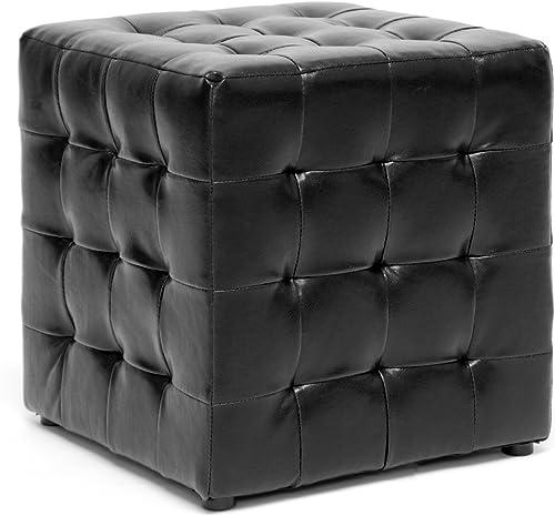 Baxton Studio Siskal Modern Cube Ottoman