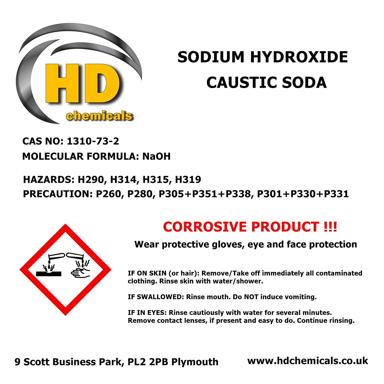 Limpiador de desagüe, sosa cáustica de 1,5 kg de caudal de grado 99% «perla», hidróxido de sodio para hacer jabón: Amazon.es: Hogar