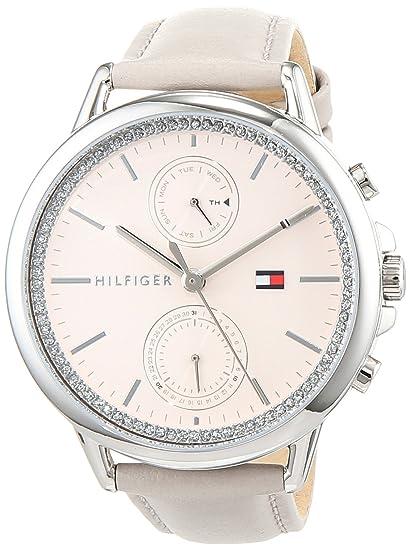 Tommy Hilfiger Reloj Multiesfera para Mujer de Cuarzo con Correa en Cuero 1781914: Amazon.es: Relojes