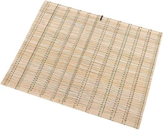 SUNSKYOO - Bolsa de bambú para Pinceles de Pintura, Portable, para Escribir caligrafía, Bordes envueltos, Bolsillos para cosméticos, Estuche para brochas, bambú, True Color, As Describtion: Amazon.es: Hogar