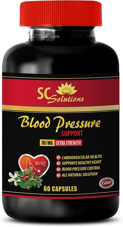 Blood Pressure Health Supplements - Blood Pressure Support 690 MG - Garlic Oil - 60 Capsules (1 Bottle)