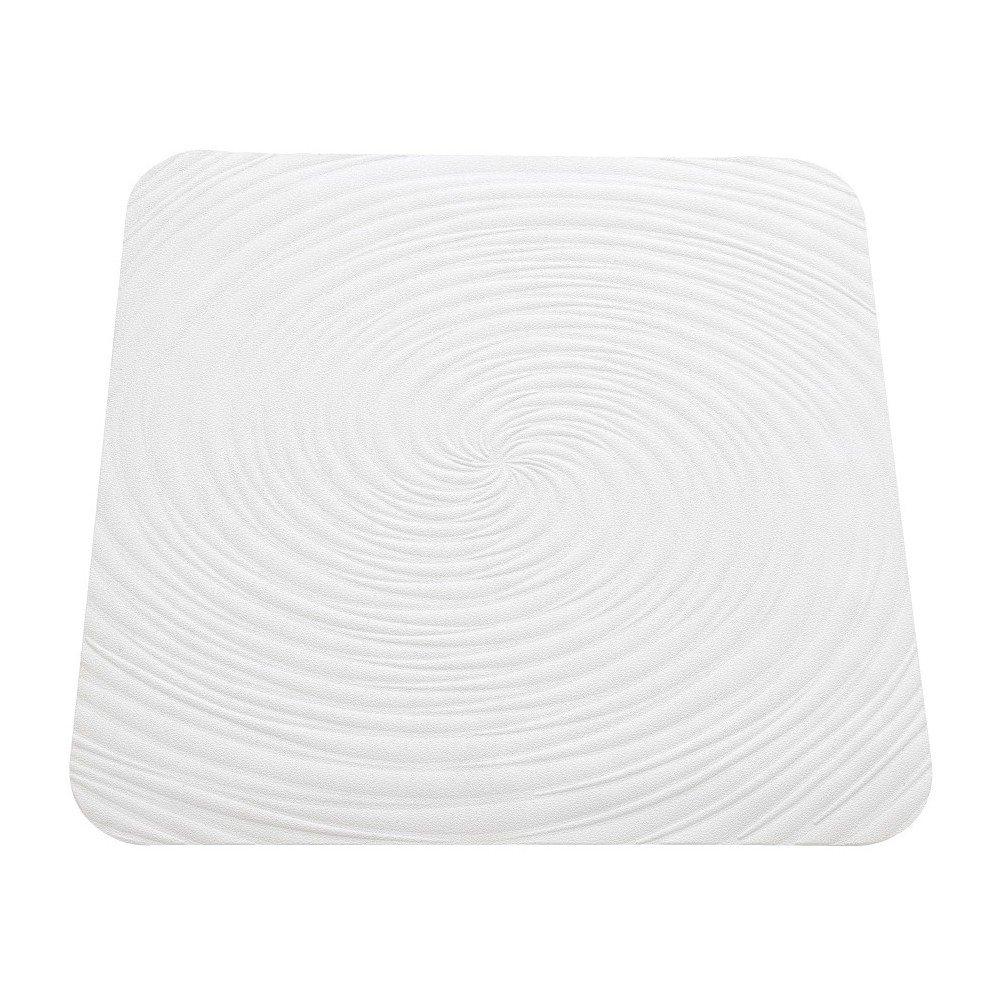 FERIDRAS Vortice Tappeto Antiscivolo, Gomma, Bianco, 2x22x64 cm Brand 842007