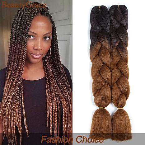 Amazing 24 Inch Black Dark Brown Beautygrace 5 Packs Afro Jumbo Braiding Natural Hairstyles Runnerswayorg
