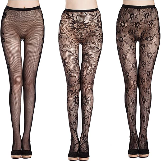 b5e66ad7f55 Women s Lace High Waist Tights Fishnet Stockings Thigh High Sexy Net  Pantyhose stye 2