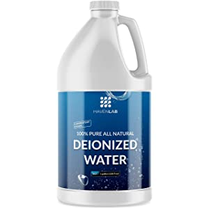 Deionized Water - Demineralized - Purification Softener in Jug - for Washing & Cleaning - Automotive Battery Cooling, Laboratory Equipment, Watering Plants, 128 oz