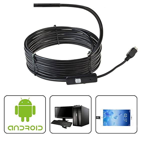 Amazon.com : Inspection Camera, ETopLike 7mm Diameter Lens ...