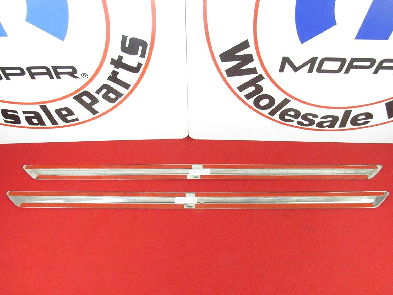 Mopar Dodge Challenger SRT Hellcat Chrome Door Protector Guard Sills New OEM