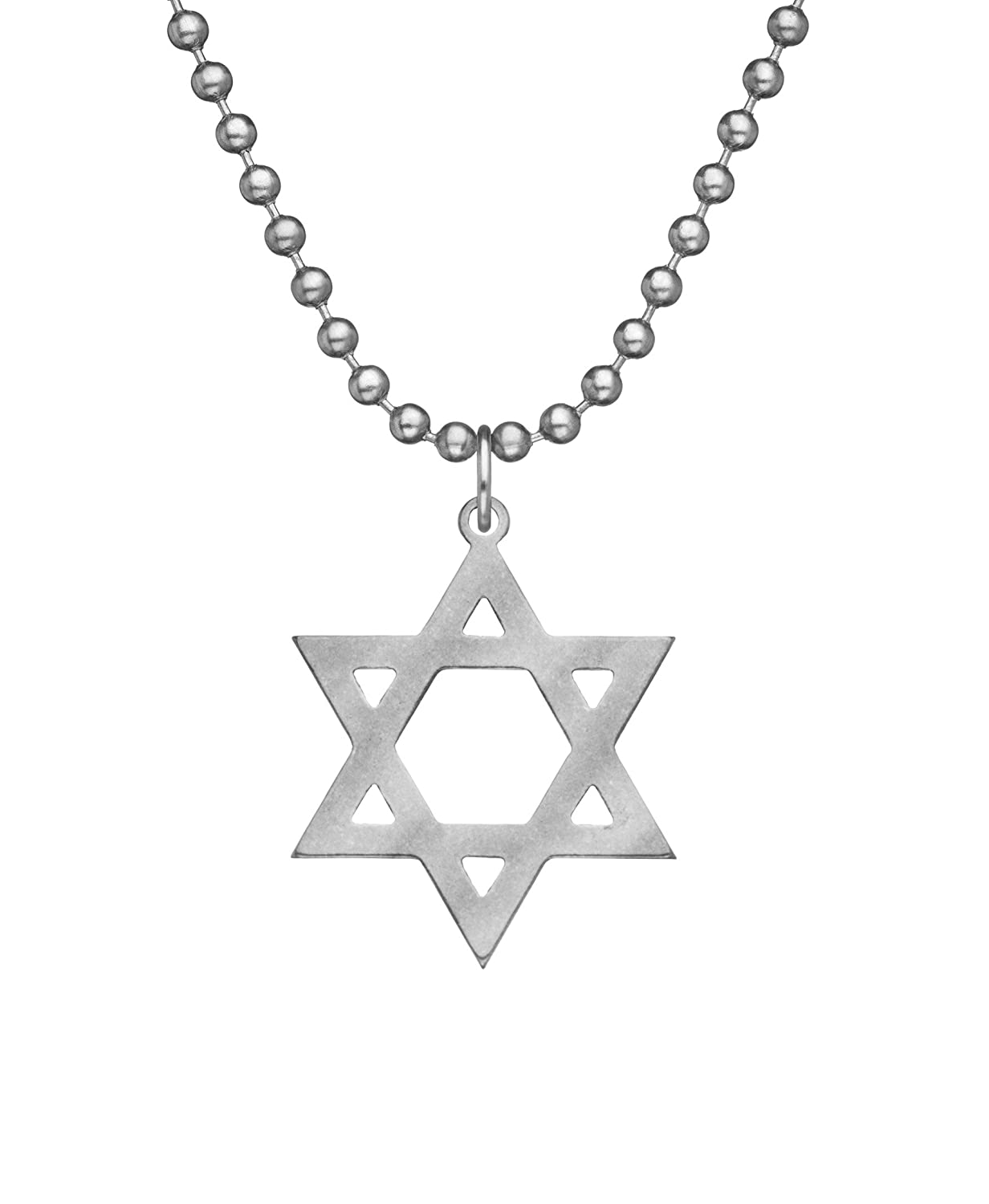 ea84cb7a0 GI JEWELRY Genuine U.S. Military Issue Star of David With Beaded Chain - 24