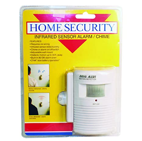 Home Security Mini Alert Motion Detector System Infrared Sensor Alarm Chime - - Amazon.com