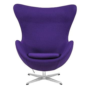 Merveilleux LeisureMod Arne Jacobsen Style Egg Chair In Purple Wool