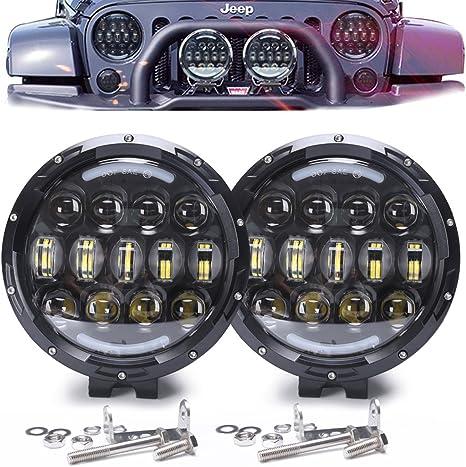 3X 9 Inch 120W LED Round Work Light Spot Flood Driving HeadLamp Offroad SUV ATV