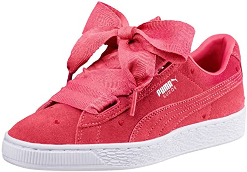 online store 86d06 74122 PUMA Kids Girl's Suede Heart Valentine (Big Kid) Paradise ...