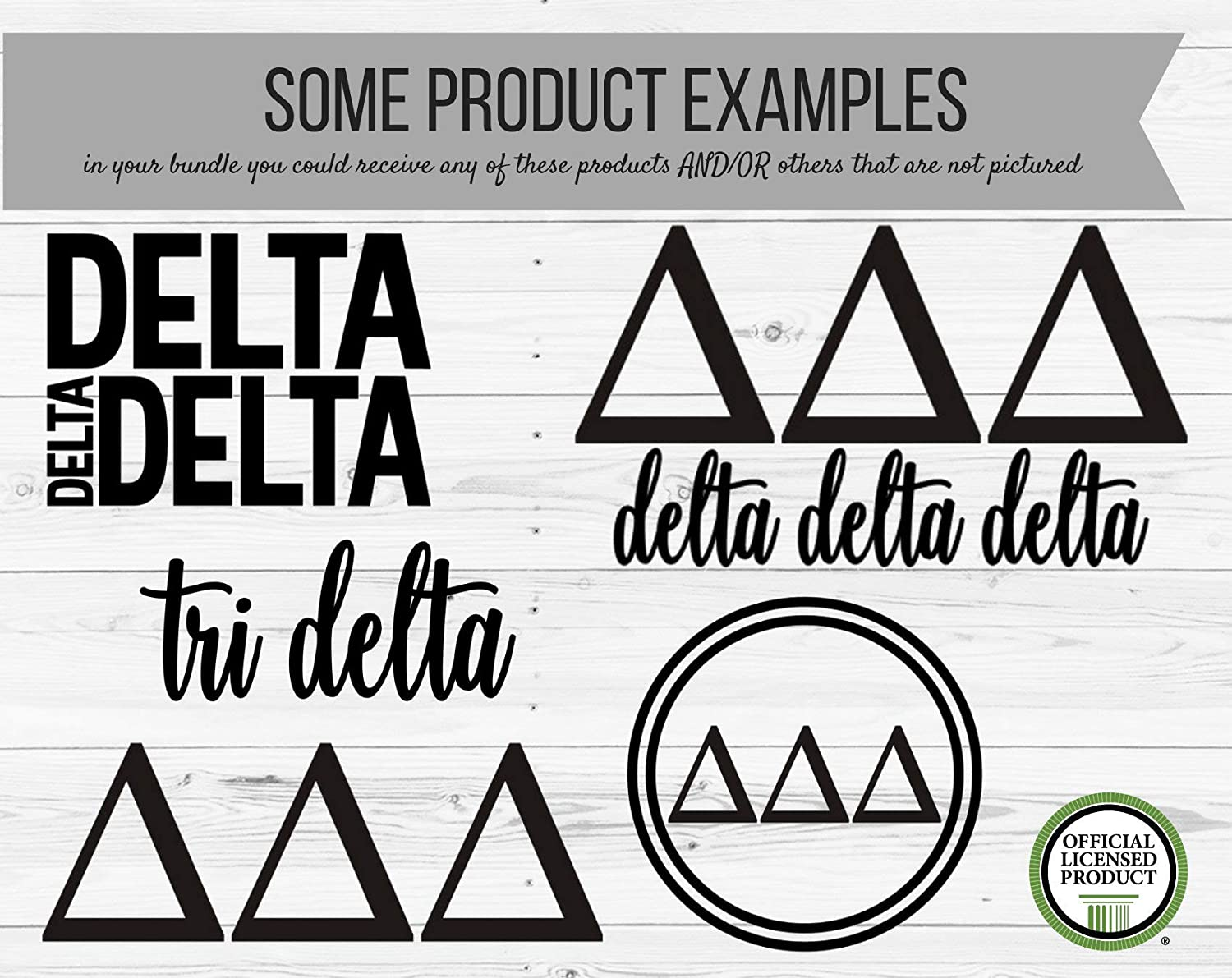 CLIFFBENNETT Delta Delta Delta Variety Pack of 10 Decals - Delta Delta Delta - Tri Delta - Tri Delta Stickers - Delta Delta Delta Decals - Laptop Sticker