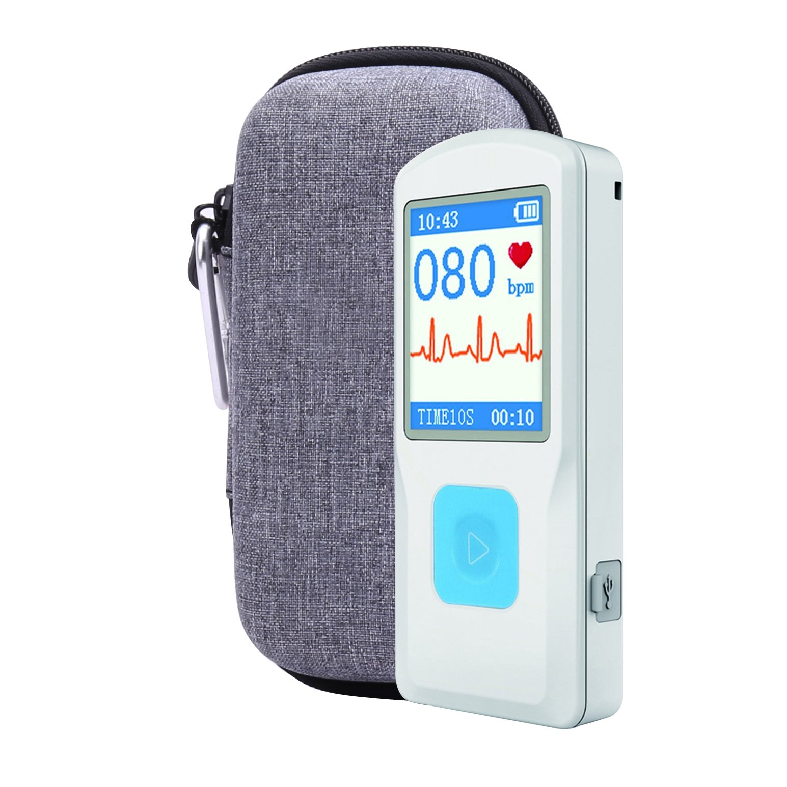 Hard Case for Emay Handheld ECG/EKG Monitor with Pill Organizer by Aenllosi