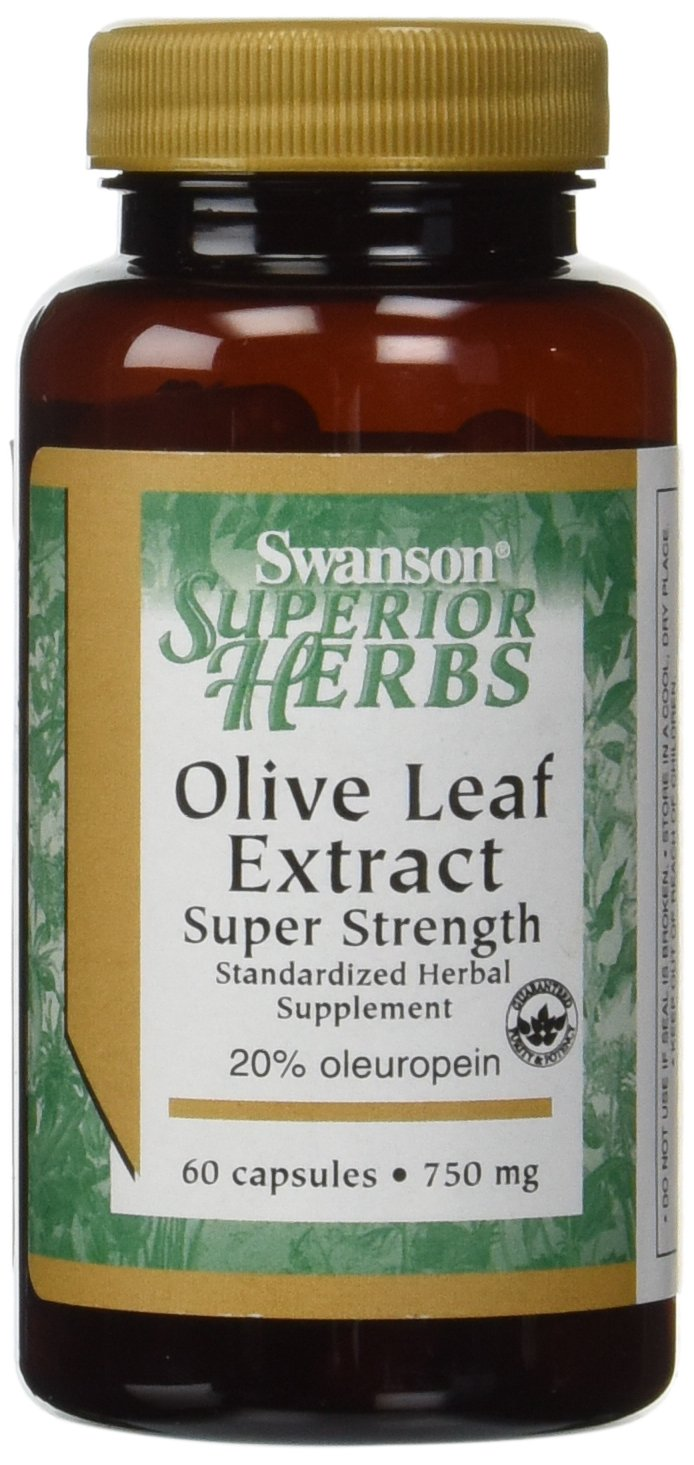 Swanson Super Strength Olive Leaf Extract 750 mg – 60 Caps 2 Pack