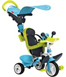 Smoby - 741200 - Tricycle Baby Driver Confort 2 - Tricycle Evolutif avec Roues Silencieuses - Dispositif Roue Libre + Verrouillage Guidon - Bleu