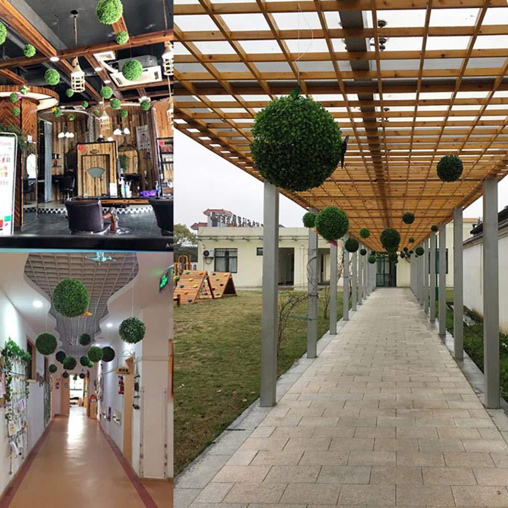 circulor Boule De Buis Simul/é Eucalyptus Herbe Boule Artificielle Boule De Buis Topiaire Plante Faux D/écoratif pour Mariage Centre Commercial No/ël D/écor /À La Maison