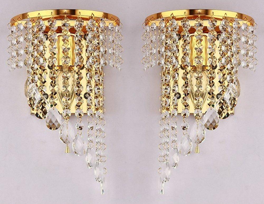 Junhong lighting una coppia e moderno k specchio di cristallo