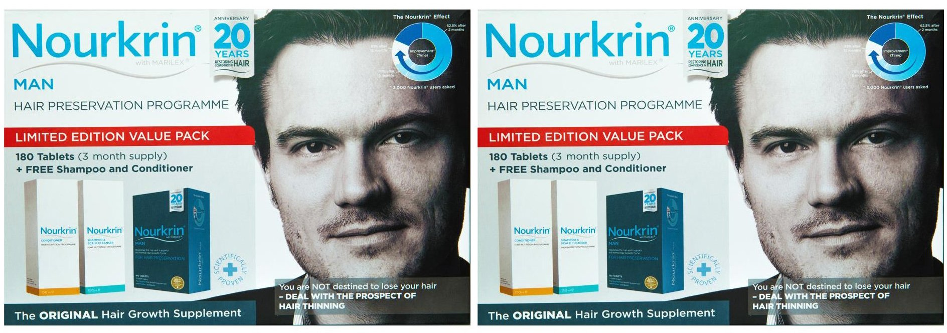 (2 Pack) - Nourkrin - Nourkrin Man Value Pack | 180's | 2 PACK BUNDLE