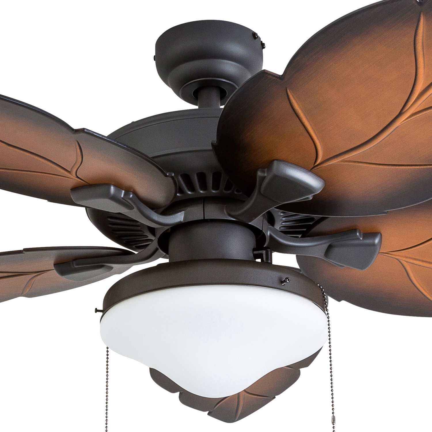 Prominence Home 50772-01 Delray Tropical Ceiling Fan 3 Speed Remote , 52 , Mocha, Bronze