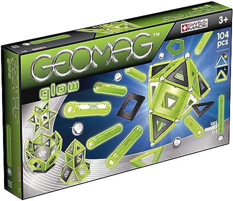 Geomag Glow Construcciones magnéticas y juegos educativos, 104 piezas (337), Multicolor: Amazon.es: Juguetes y juegos