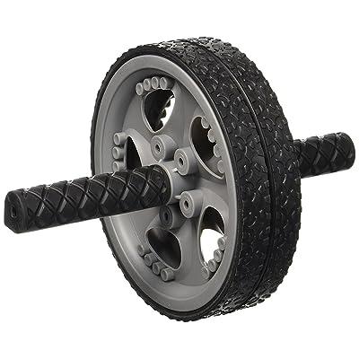 Double AB Roller Roue, d'exercice et de fitness avec roulette à prise en main facile Poignées pour Core d'entraînement et abdominaux entraînement