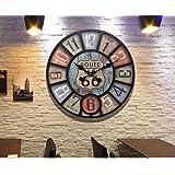 wysm Style américain Rétro Rural Horloges industrielles et horloges, Horloges murales, Salon, Creative Bell Muet, Bell, Horloge de style européen