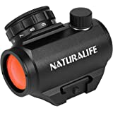 Naturalife Tactical 2 MOA Red Dot Sight Scope for Rifles with Rail Mounts, Red Dot Sight Riflescope, Black