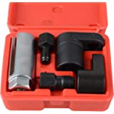 DAYUAN 5-Pieces Oxygen Sensor Socket Wrench and Thread Chaser Set