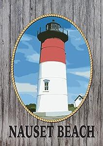 Toland Home Garden Nauset Beach 12.5 x 18 Inch Decorative Coastal Massachusetts Lighthouse Garden Flag