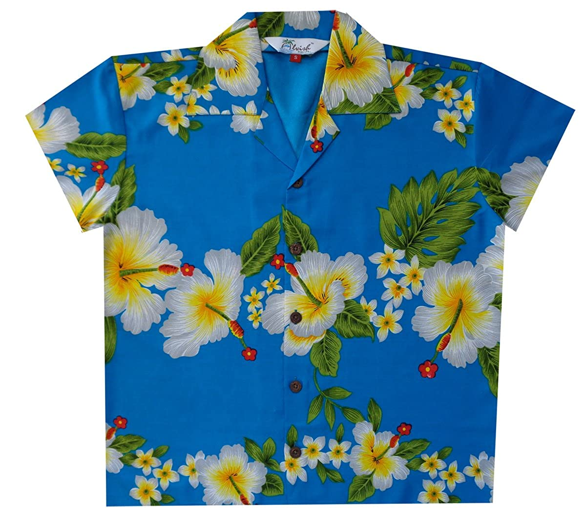 Hawaiian Shirts Boys Hibiscus Flower Print Beach Aloha Party Camp Short Sleeve