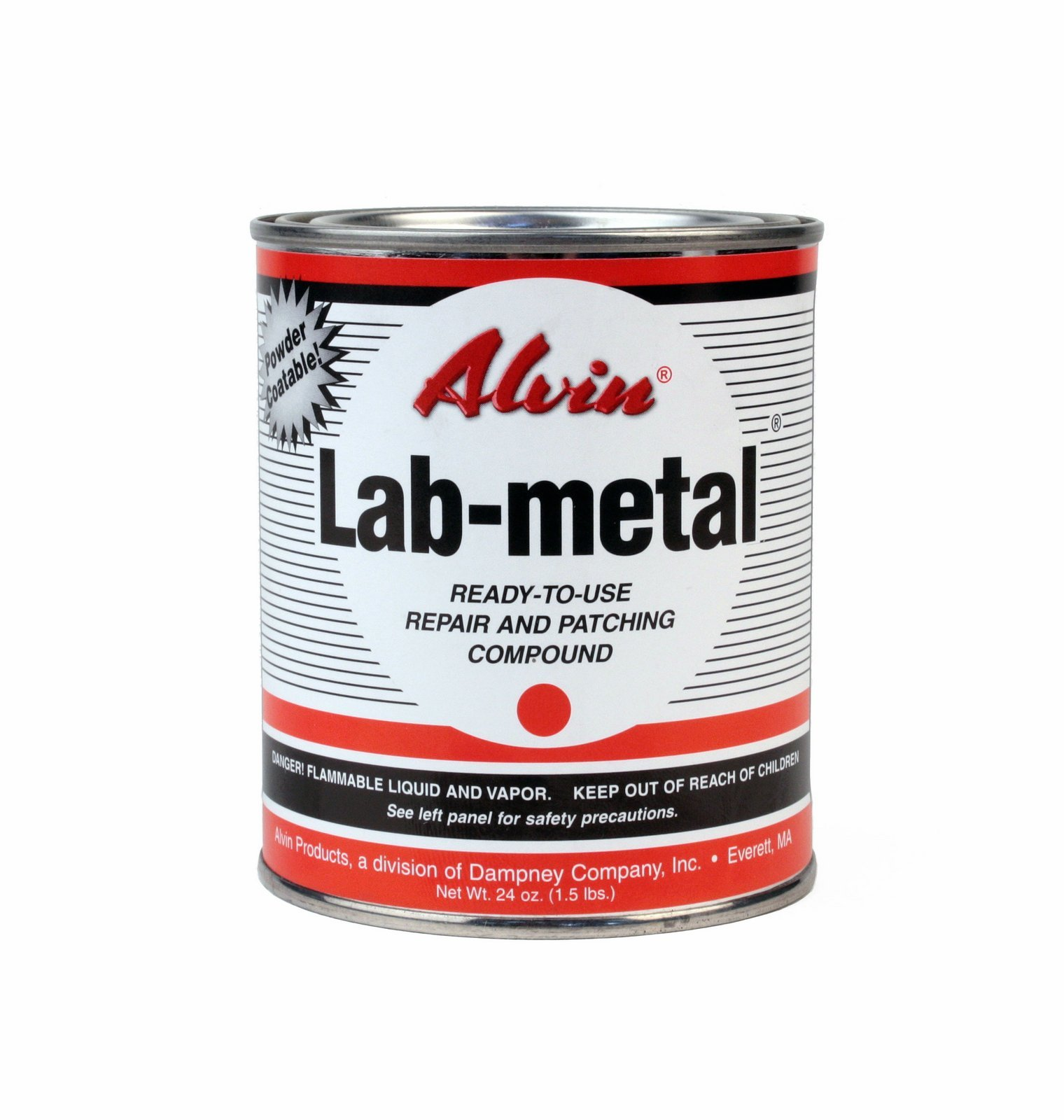 Alvin 24 oz Lab Metal & 16 oz Lab Solvent Kit Putty Dent Filler & Patching Compound Epoxy by Alvin Products (Image #2)