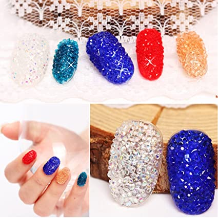 Image Unavailable. Image not available for. Color  MEILINDS Mini Diamond  Shining Rhinestones Crystal Micro Bead Nail Art ... 5f6a918c3a9a