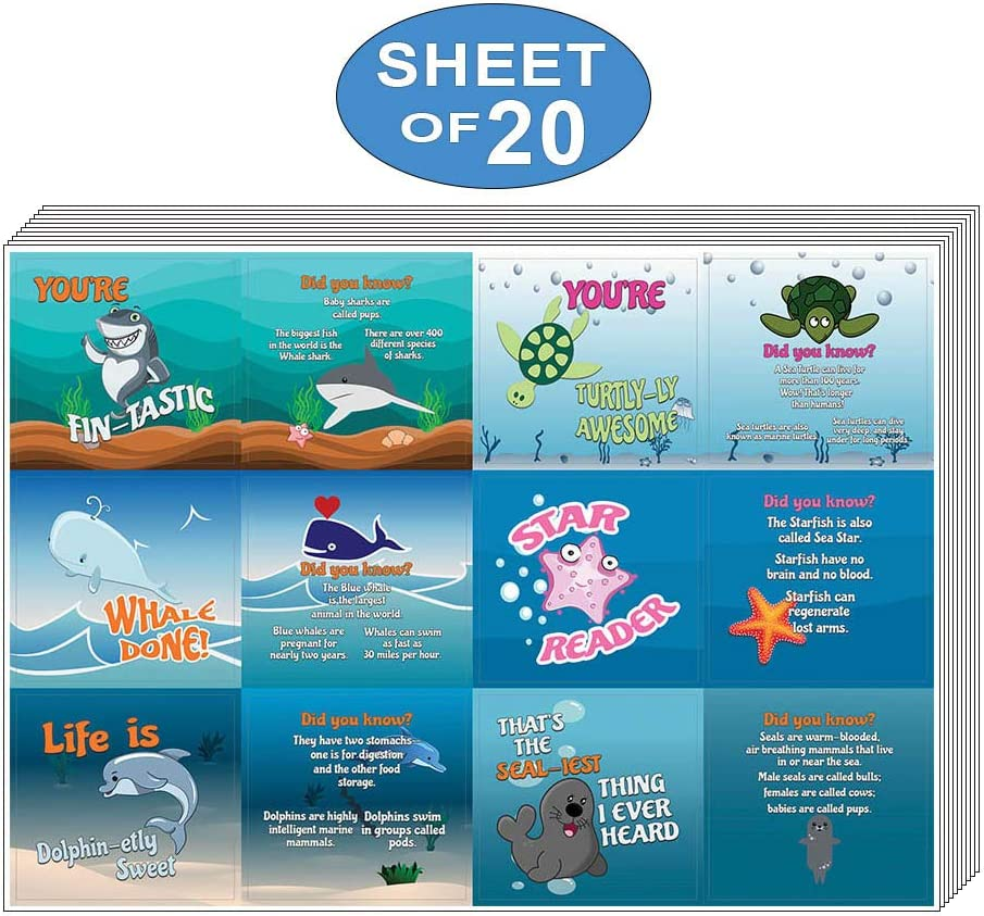 Sticker Card for Kids Classroom Teaching Incentives 20-Sheet Decal Decor Awesome Stocking Stuffers Gifts for Boys /& Girls Creanoso Good Character at Home Behavior Stickers